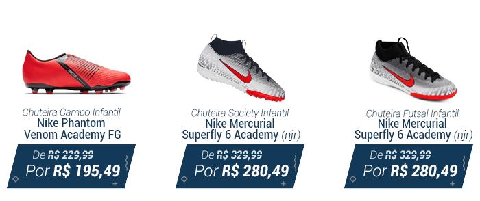 f811890887c37 1 - Chuteira campo Nike; 2 - Chuteira society Nike; 3 - Chuteira futsal Nike .
