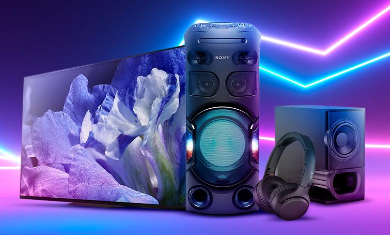 Outlet Sony com Smart TV, fones de ouvido e aparelhos de som em promoção